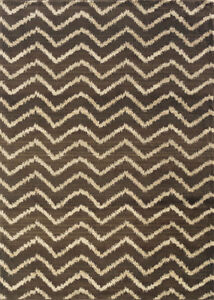 3x10 Sphinx Chevron Lines Casual Brown 5993D Stripes Area Rug - Approx 2' 7