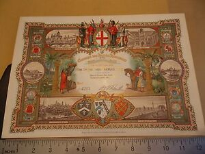 Great 1886 Colonial INDIAN Reception Invitation England Ticket Vintage!!!! WOW!!