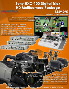 BSTOCK Sony HXC-100K Digital Triax HD Multi-Camera Package