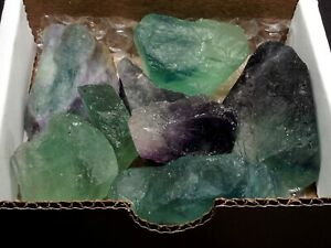 Fluorite Collection 1 2 Lb Natural Green Purple Blue Gemstone Rough