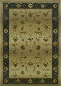 2x8 Runner Sphinx Beige Oriental Leaves 112M1 Area Rug - Approx 2' 7