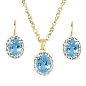2 Carats Blue Topaz Diamond Lever Back Dangle Earrings 14k Yellow Gold over Base