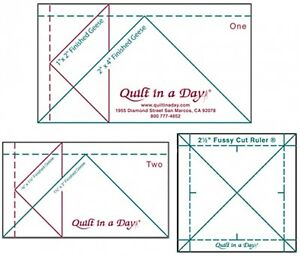Mini Ruler Set Quilt in a Day 2 Mini Geese Rulers amp; 2 1 2quot; Fussy Cut Ruler $15.95