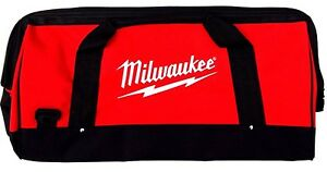 New Large Milwaukee 22quot; Heavy Duty Canvas DrillTool Bag Case 18V 12 14 18 Volt