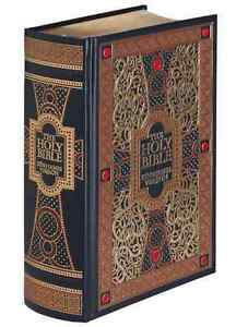 THE HOLY BIBLE: King James Version KJV illustrated Gustave Dore LEATHER BOUND