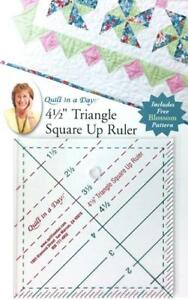 4 1 2quot; Triangle Square Up Ruler Quilt in a Day includes FREE Blossom Pattern $14.95