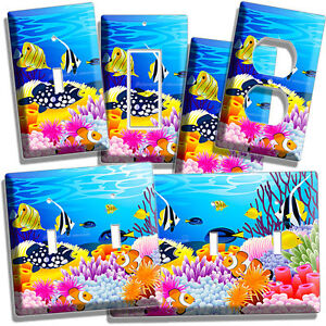 TROPICAL SEA EXOTIC CORAL AQUARIUM FISH LIGHT SWITCH OUTLETS WALL PLATE COVERS $13.99