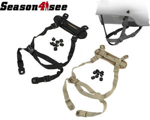 Tactical Airsoft Paintball Retention System H-Nape Strap Gear for MICH Helmet