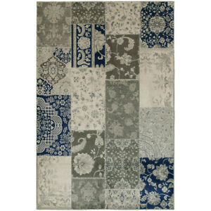 12x15 Ivory Panels Crosshatch Vines Patchwork Area Rug Sphinx - Aprx 12' x 15'