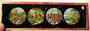 Antique Glass Slide Asian Tropical Winter Mediterranean Scenes People E.P. AS IS