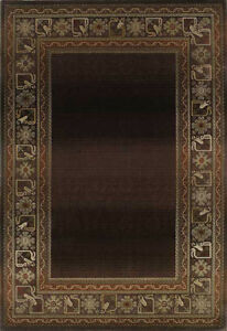 2x8 Runner Sphinx Brown Oriental Border 3436B Area Rug -Approx 2' 3'' x 7' 6''