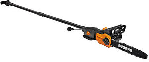 WORX WG309 8 Amp 10quot; 2 In 1 Electric Pole Saw amp; Chainsaw with Auto Tension