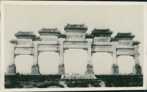 China Peking The Famous Marble Arch of Ming Tombs Vintage silver print. Beiji EUR 59.25