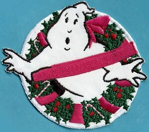 Christmas XMAS Ghostbusters No Ghost Embroidered Iron on Holiday Patch $8.99