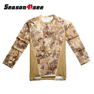 M-2XL Chiefs SPORT-TEK MEN'S MOISTURE WICKING DRY FIT LONG SLEEVE T-SHIRT CAMO