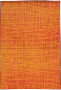 Pantone Universe Orange Grid Lines Basket Contemporary Area Rug All-Over 5998O