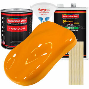 Speed Yellow Gallon Kit Single Stage ACRYLIC LACQUER Car Auto Paint Kit