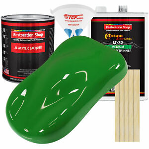 Vibrant Lime Green Gallon Kit Single Stage ACRYLIC LACQUER Car Auto Paint Kit