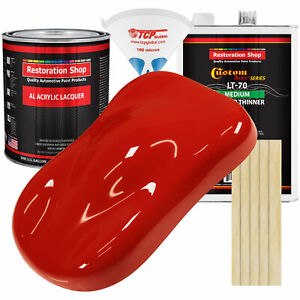 Swift Red Gallon Kit Single Stage ACRYLIC LACQUER Car Auto Paint Kit