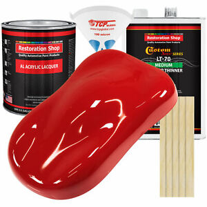 RALLY Red Gallon Kit Single Stage ACRYLIC LACQUER Car Auto Paint Kit