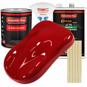 REGAL Red Gallon Kit Single Stage ACRYLIC LACQUER Car Auto Paint Kit