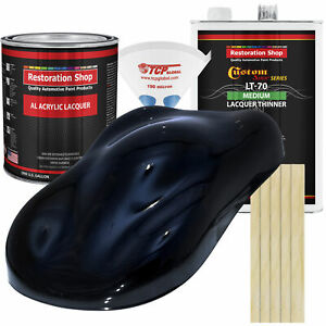 Dark Midnight Blue Pearl Gallon Kit Single Stage ACRYLIC LACQUER Auto Paint Kit