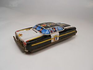 vintage 1960s japan tn nomura police car tin