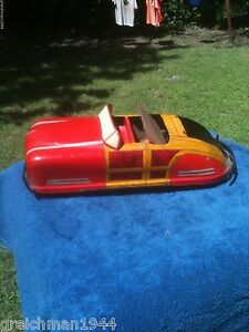 toy pressed steel hard top convertible automobile