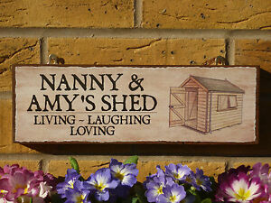 PERSONALISED SHED SIGN FUNNY WOODEN SIGN GIFTS FOR NANA NANNY GRANDMA NAN PLAQUE