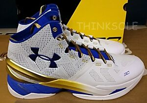 UNDER ARMOUR STEPHEN CURRY 2 RINGS GOLD 1259007-107 GOLDEN STATE WARRIORS MVP