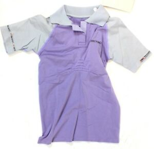 X-BIONIC TRAVEL LADY POLO Shirt Short Sl Med Women's MSRP $214 Lilac NEW SAMPLE