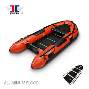 12'-6'' (380-SR) INMAR Search & Rescue Dive Inflatable Boat - Aluminum floor