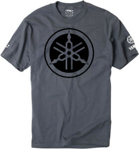 Factory Effex Licensed Yamaha Tuning Fork T-Shirt Charcoal Mens All Sizes