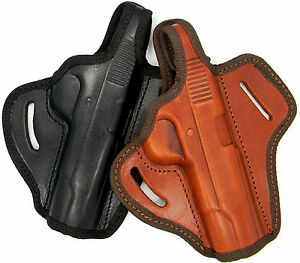 LEATHER OWB THUMB BREAK BELT SLIDE HOLSTER for 5