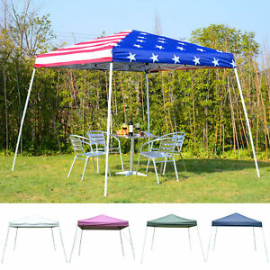 10' x 10' EZ Pop Up Canopy Outdoor Slant Leg Wedding Party Tent Folding Gazebo