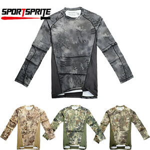 Chiefs CAMO SPORT-TEK MEN'S MOISTURE WICKING DRY FIT LONG SLEEVE T-SHIRT M-2XL