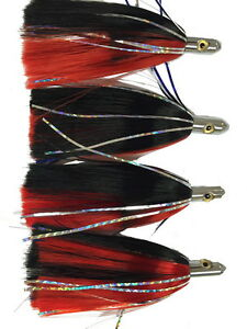 Fishing Lures Red Black Ilander Style 8