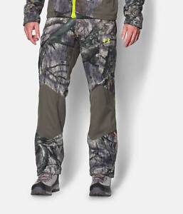 NWT UNDER ARMOUR MOSSY OAK TREESTAND GREEN CAMOUFLAGE SCENT CONTROL PANTS SMALL