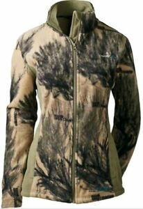 NWT XL 2XL 3XL OUTFITHER Women#x27;s Fleece Jacket Coat Open Country 3D Camo Hunting