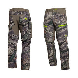 NEW UNDER ARMOUR MOSSY OAK TREESTAND GREEN CAMOUFLAGE SCENT CONTROL PANTS 3XL !!