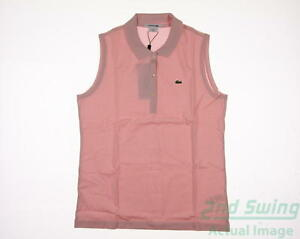 New Womens Lacoste Golf Pique Stretch Sleeveless Polo XX-Large XXL Pink MSRP $70