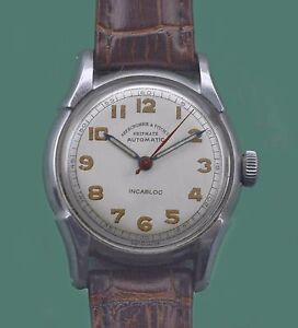 Vintage 1950's Abercrombie & Fitch SHIPMATE Automatic Military Navy  Watch