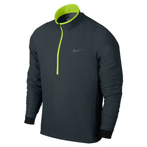 Mens Size Medium Charcoal Gray Nike Golf Jetstream Protect 12 Zip Pullover Top