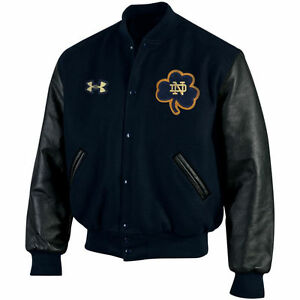 Notre Dame Fighting Irish Under Armour Iconic Varsity Letterman Jacket