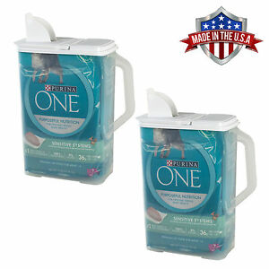2 Pack Food Storage Container 8 Qt Keeper Pour n' Store with Handle