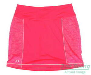 New Womens Under Armour Golf Skort Size Large L Pink MSRP $60