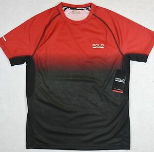 Polo Sport Ralph Lauren Shirt Performance ThermoVent Red Black Tee S