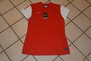new with tags Nike Dry Fit Womens Shirt red and white short sleeve Size medium