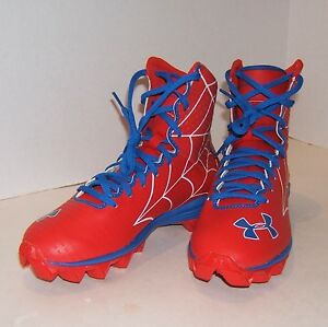 Under Armour ALTER EGO Highlight RM Football Cleats SPIDERMAN Boys Size 5Y