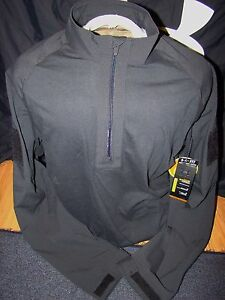 NWT MENS UNDER ARMOUR BLACK TACTICAL MORAL PATCH LOOSE FIT STORM JACKET COAT XL